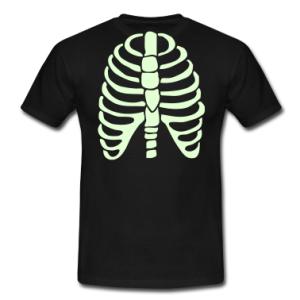 nero scheletro t-shirt