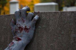 hand tombstone zombie