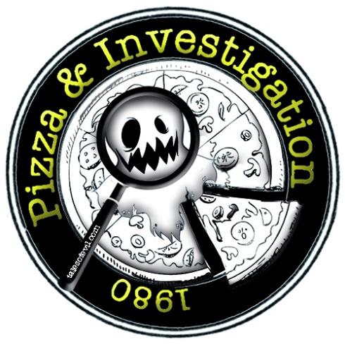 pizza e investigation logo effetti white